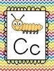 Alphabet Cards {Chevron pattern}
