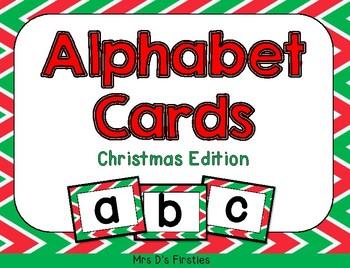 Alphabet Cards {Christmas edition)