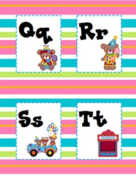 Alphabet Cards - Circus Theme