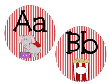 Alphabet Cards: Circus Themed