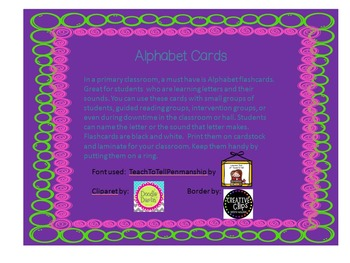 Alphabet Cards Color