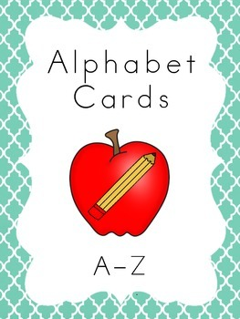 Alphabet Cards Colorful Moroccan Tile