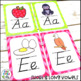 Alphabet Cards (D'Nealian) Bright Chevron Theme