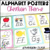 Alphabet Posters Chevron Theme  | D'Nealian Style
