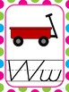 Alphabet Cards (D'Nealian) Mulit-Polka Dot Theme