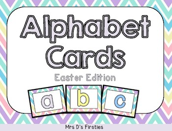 Alphabet Cards {Easter edition}