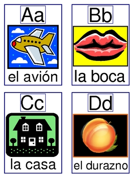 Alphabet Cards-El Alfabeto to play PESCA