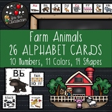 Alphabet Cards - Farm Animals Decor