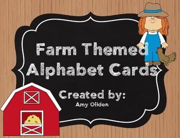Alphabet Cards: Farm Themed