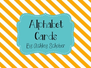 Alphabet Cards For Teacher Table