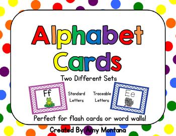 Alphabet Cards {Freebie}