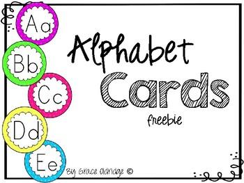 Alphabet Cards *Freebie!*
