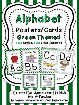 Alphabet Posters (Green Themed - perfect for Frog Theme)