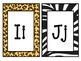 Alphabet Cards: Jungle/Safari/Animal Prints