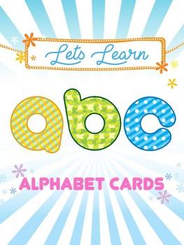 Alphabet Cards, Letter Size