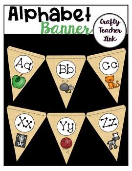 Alphabet Banner / Letters / Pictures
