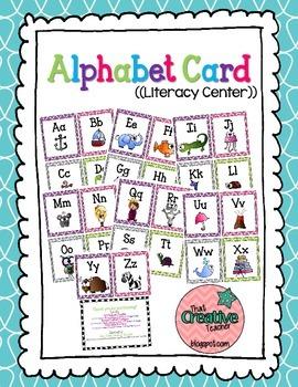Alphabet Cards Literacy Center