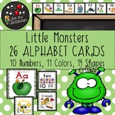 Alphabet Cards - Little Monsters Decor
