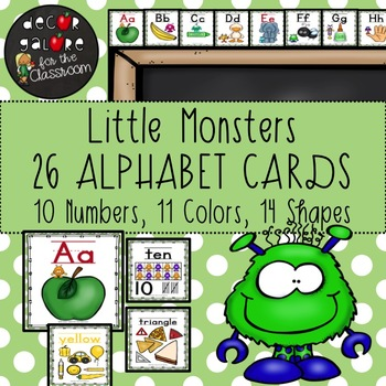 Alphabet Cards - Little Monsters Decor