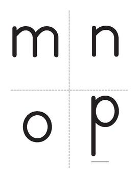 Alphabet Cards: Lowercase