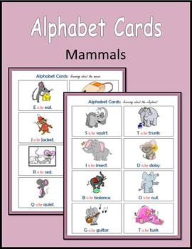 Alphabet Cards (Mammals)