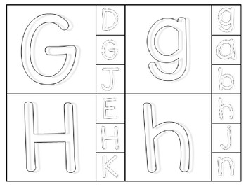 Alphabet Cards Matching Game