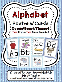 Alphabet Posters (Ocean Themed)