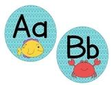Alphabet Cards: Ocean Themed