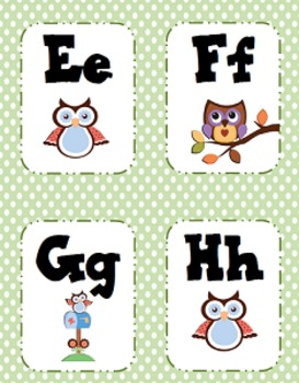 Alphabet Cards - Owl Theme