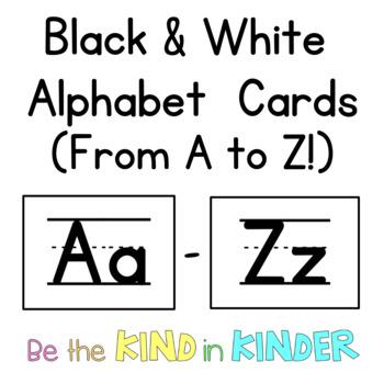 Alphabet Cards | {B&W}