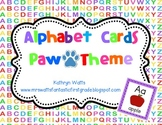Alphabet Cards - Paw Theme