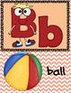Alphabet Cards - Peach Chevron