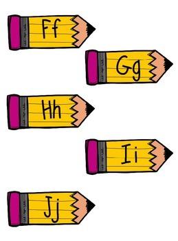 Pencil Alphabet Cards