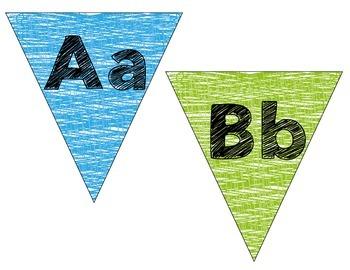 Alphabet Cards: Pennants!