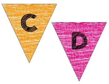 Alphabet Cards: Pennants!