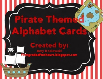 Alphabet Cards: Pirate Themed