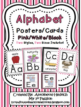 Alphabet Posters (Pink/White/Black Themed)