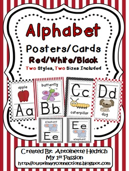Alphabet Posters (Red/White/Black Themed)