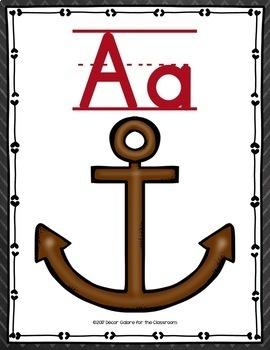 Alphabet Cards - Pirates Decor