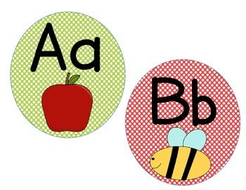 Alphabet Cards: Polka Dot