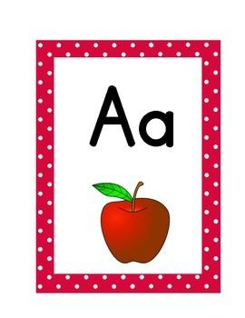 Alphabet Cards Polka Dot (Journey's Grade 1-3)