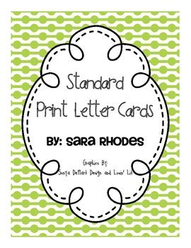 Alphabet Cards {Polka Dots & Standard Print} Brights!