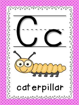 Alphabet Posters (Polka Dots Themed)