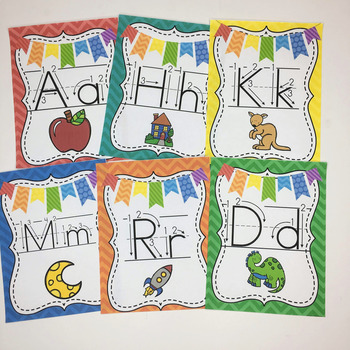 Alphabet Cards Primary Print-With and Without Arrows