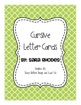 Alphabet Cards {Quatrafoils & Cursive} Brights!