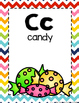 Alphabet Cards-Rainbow Chevron
