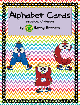 Alphabet Cards - Rainbow Chevron