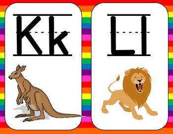Alphabet Cards Rainbow Theme Border
