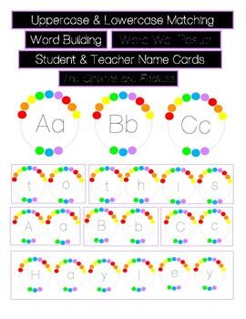 Alphabet Cards - Rainbow Themed