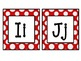 Alphabet Cards: Red & White Polka Dots